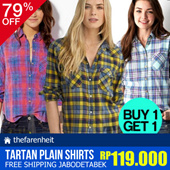 BUY 1 GET 1 !! SPECIAL PRICE FOR PLAID TARTAN SHIRTS MANIA! THE-FAHRENHEIT | TOPS
