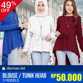 [UPD 05 FEB] Atasan Lengan Panjang - 3 Models - Blouse/Tunik Hijab - Hijab Style