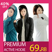 New! Coup Women Active Hoodie_6Colors_Premium Quality_100% Cotton_Casual look_Jaket wanita / Jacket / Pakaian wanita