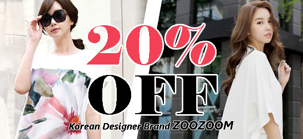 ZOOZOOM KOREAN STYLE S/S NEW ARRIVAL 20%OFF