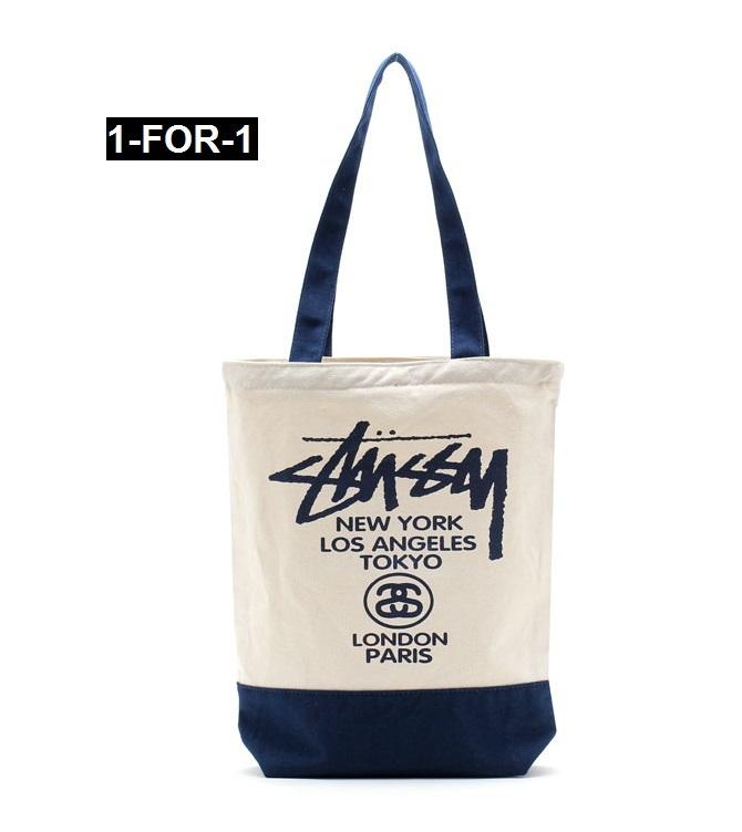 Qoo10 - CANVAS SHOULDER SHOPPING BAG [1-FOR-1] : Bag & Wallet
