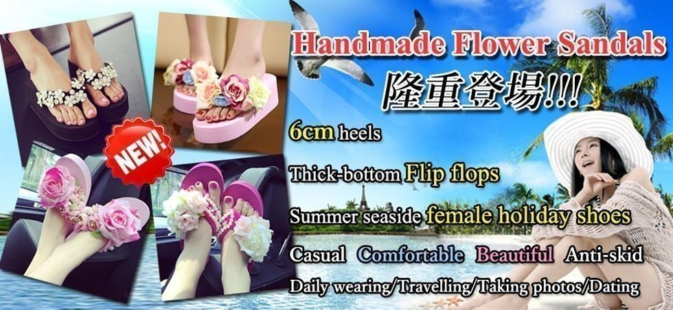 Handmade Flower Sandals