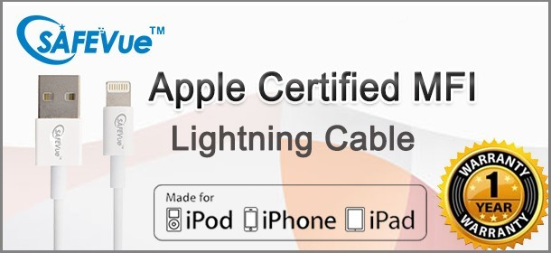 Real MFI Cable with 1 Yr Warranty!