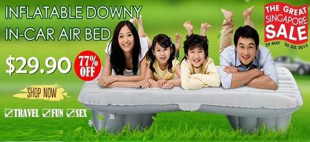 INFLATABLE PORTABLE DOWNY IN-CAR AIR BED MATTRESS