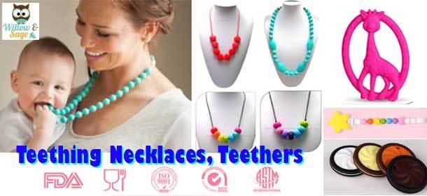 Teething Necklaces, Teethers, Teething Bibs