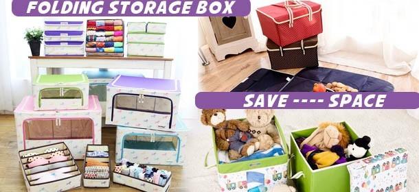 Folding storage box / fabric box