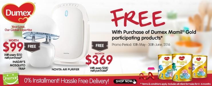 ★ FREE Novita Air Purifier with Dumex ★