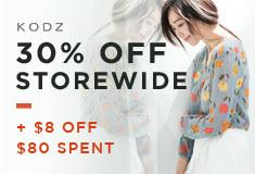 30% Off Storewide + $8 Off $80 Spent
