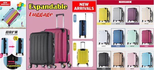 ★★ NEW 4 Wheel Spinner Expandable Luggage ★★
