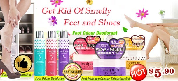 Get Rid Of Smelly Feet and Shoes!