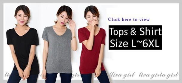 Plus Size L~6XL Basic Shirt