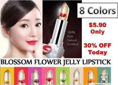 HIGHLY RAVED!!! 【Temperature Change】 Angel Temptation Blossom Flower Jelly Lipstick【moisturizing lipstick Waterproof】