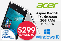 Acer Aspire Touchscreen Notebook $299