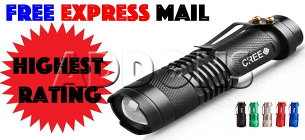 [FREE EXPRESS MAIL] Touch Light American Extreme Brightness CREE LED Torch XML Q5 Torchlight Flashli