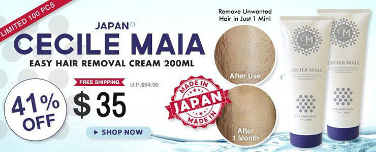 JAPAN CECILE MAIA 1 Minute Bathroom Easy Hair Removal Cream 200ml