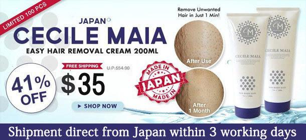 JAPAN CECILE MAIA 1 Minute Bathroom Easy Hair Removal Cream 200ml