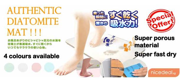 Newest & Hottest Item Japan Diatomite Mat