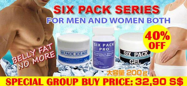 RESTOCKED! Japan Six Pack Ice Age Gel☆
