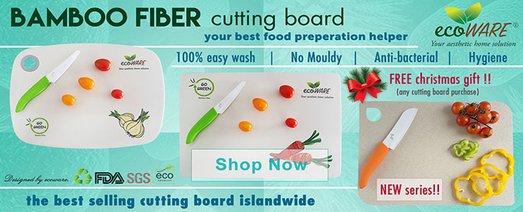 ecoWARE Bamboo Fiber Cutting Board BEST SELLER in SG!