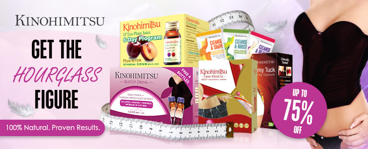 Get The HOURGLASS Figure with Kinohimitsu [Detox/Slimming/Bust]