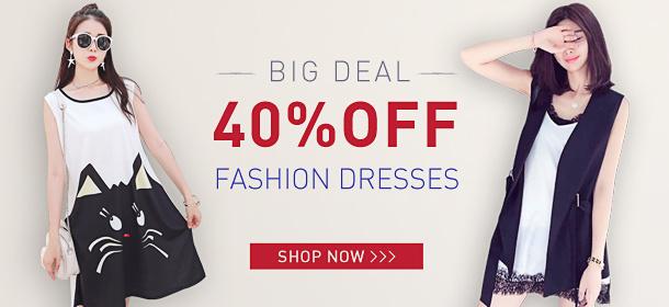 40%OFF Fashion Dresses