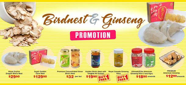 Bird's Nest & Ginseng Promotion