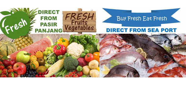 Fresh Seafood, Vegetables and Fruits