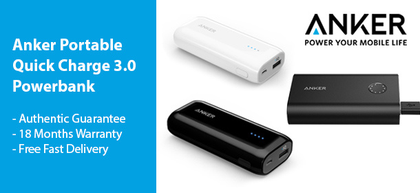Anker Portable Quick Charge 3.0 Powerbank