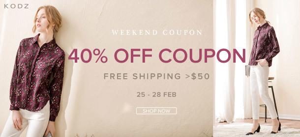 KODZ - 40% Coupon + Free Shipping >$50
