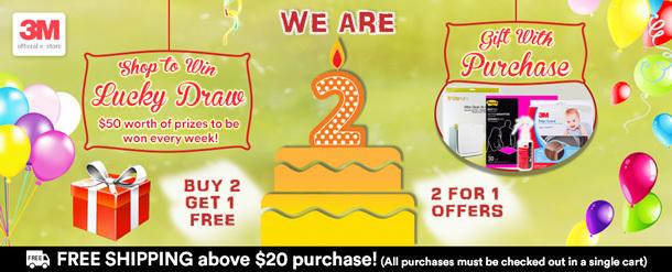 3M™ Qoo10 Birthday Campaign