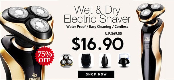 MEN'S WET AND DRY ELECTRIC SHAVER
