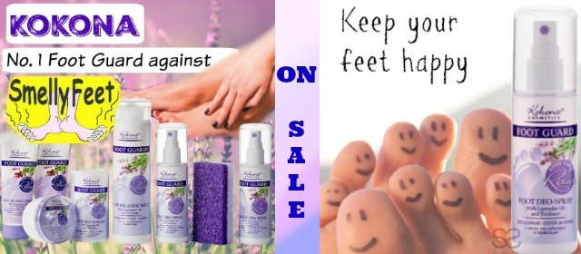 Kokona Lavender Foot Guard! Keep Feet and Shoes smelling FRESH!