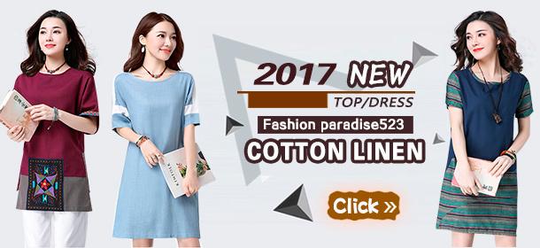 High Quality Japanese Linen Apparels Cotton Dress Japan Linen / Plus Size Dress
