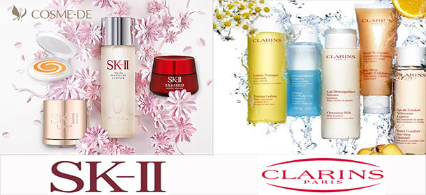 Big Sales for SK2 and Clarins