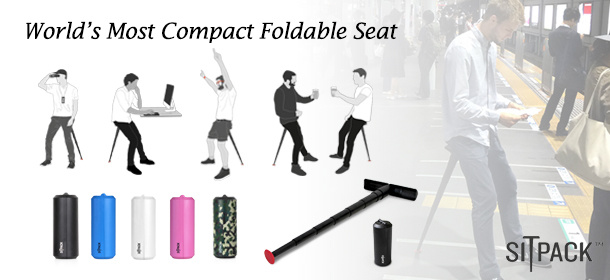 Sitpack, The Foldable Seat & Ergonomic Office Chairs