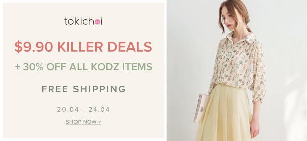 TOKICHOI - $9.90 Killer Deals + 30% Off KODZ + Free Shipping