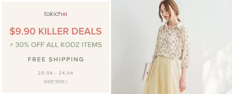 TOKICHOI - $9.90 Killer Deals + 30% Off KODZ + Free Shipping