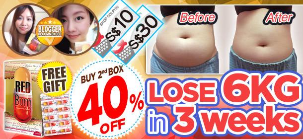 2nd box 40%OFF ! Result Guaranteed! #Lose 6KG in 3weeks !!
