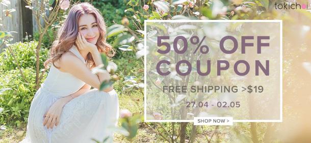 TOKICHOI - 50% Off Coupon + Free Shipping >$19