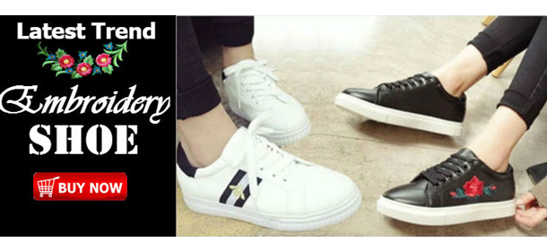 $9.90 Must Buy this season- Embroidery Shoe from $9.90