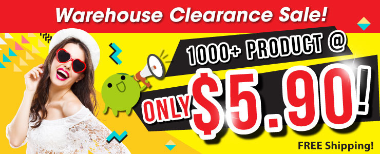 WAREHOUSE CLEARANCE SALE FOR $5.90  ONLY!!!