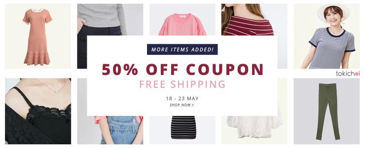 TOKI CHOI - 50% Off Coupon+ Free Shiping