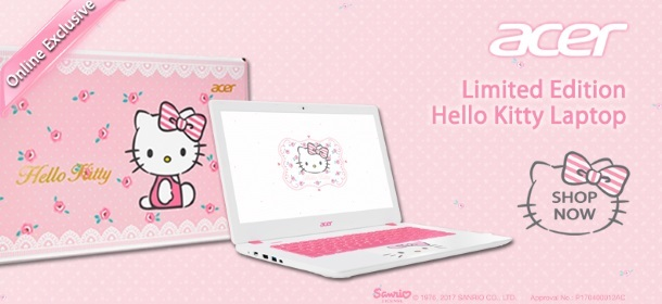 Acer Hello Kitty Limited Edition Laptop