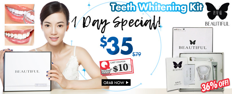 Beautiful Teeth Whitening Kit with Cold Lights