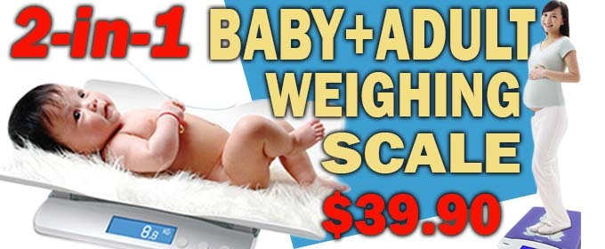 2-in-1 Baby And Adult Weighing Scale