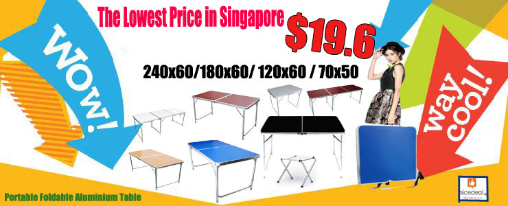 Foldable table promotion