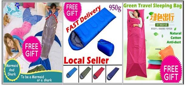 Camping Thermal Sleeping Bag Envelope Hooded Travel Keep Warm Water Resistant waterproof Cotton Bag
