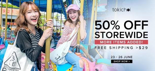 TOKICHOI - 50% Off Storewide + Free Shipping >$29