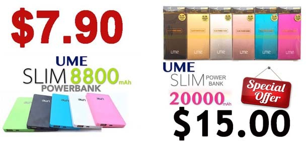 UME SLim Power Bank Sales