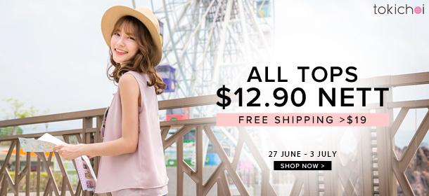 TOKICHOI - All Tops at $12.90 Nett + Free Shipping >$29